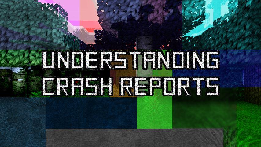 Minecraft crash no error report sheet
