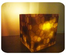 DIY Glowstone Block Candle Holder