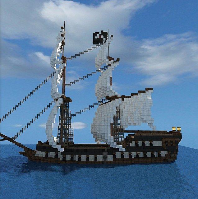 Assassin S Creed Black Flag Jackdaw Ship Minecraft Map