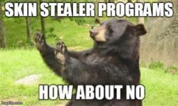 Skin stealer programs? How about no... Minecraft Blog