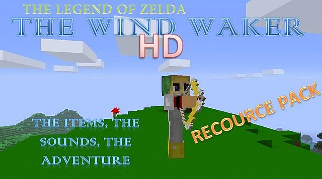 The beta version of the pack was originally going to be released a few days ago but then it really needed more to look like Wind Waker and needed some more detailed blocks to look up to the standards. So this is a little bit late but we got it now for the