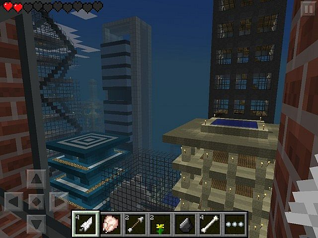 Minecraft pocket edition 8 metropolis giant city for minecraft pocket