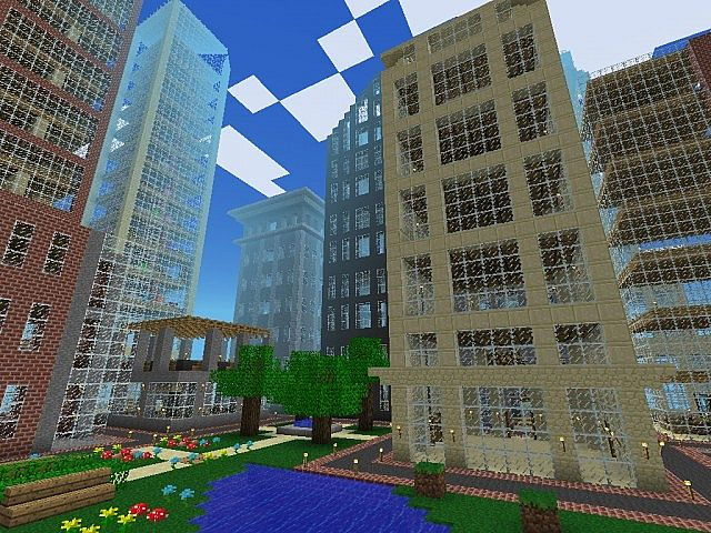 Minecraft pe seeds city metropolis giant city for