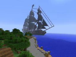 Realistic looking Black Pearl galleon Minecraft Map & Project