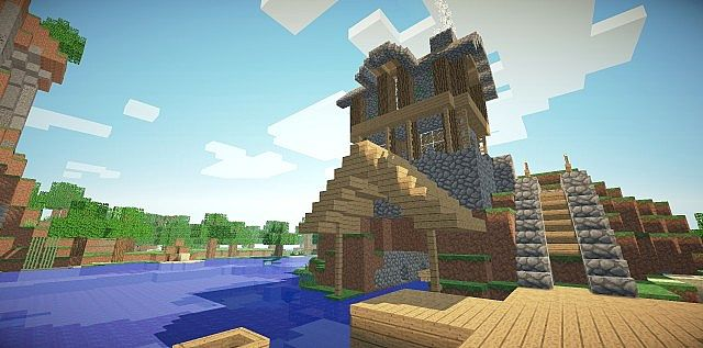 Medieval Fisherman House On A Hill Minecraft Project