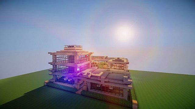 30x30 Modern House Minecraft Map