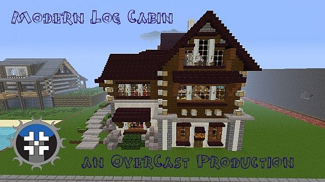 . Modern Log Cabin Minecraft Project