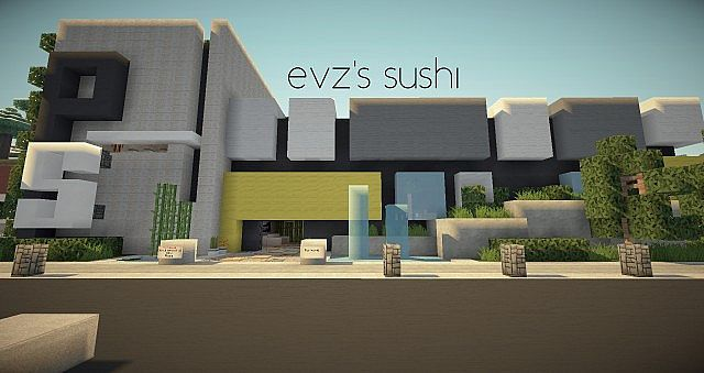 Evzs sushi Modern sushi bar Minecraft Project