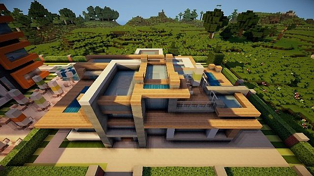 Minecraft Modern House Project