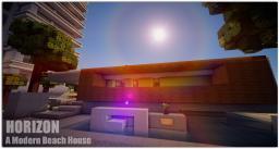Horizon - A Modern Beach House Minecraft Map & Project