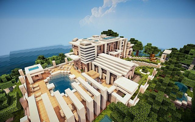 Virage Modern Island House Minecraft Project