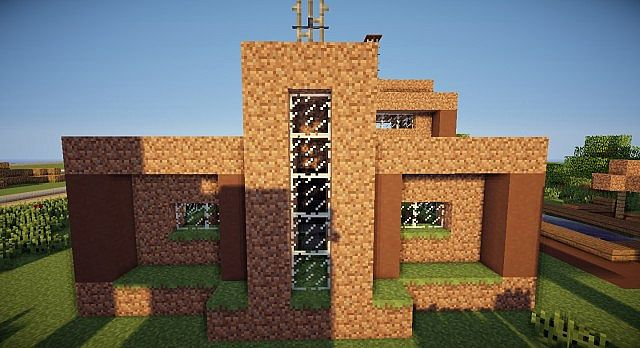 Modern Dirt - A Modern Dirt House Minecraft Project on