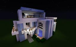 My first attempt at a modern house! [NOW WITH INTERIOR AND POOL!] Minecraft Map & Project
