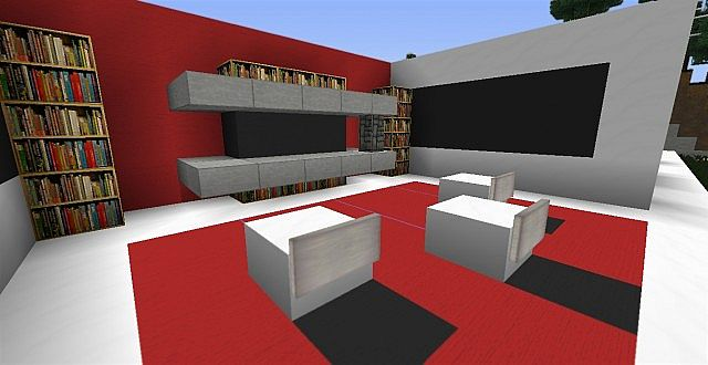 Modern living room ideas minecraft project for Living room ideas in minecraft