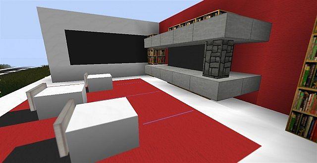 Modern living room ideas minecraft project for Room design ideas minecraft