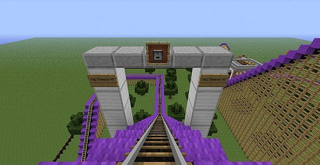Bucking bronco amazing and huge roller coaster minecraft project