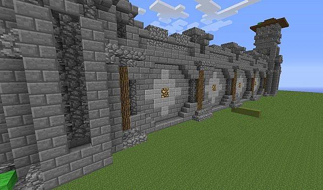 minecraft wall designs. Wall Design V1 Minecraft Designs L