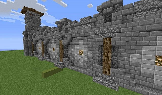 how to make a stone wall in minecraft