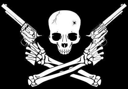 Guns Crossed Logo Gun Logo Skull Skull And Guns