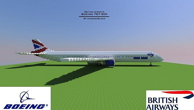 Boeing 767-300 3:1 Scale Model [Download] Minecraft Project