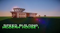 Minecraft : SpeedBuilding : Modern House 1 Minecraft Map & Project