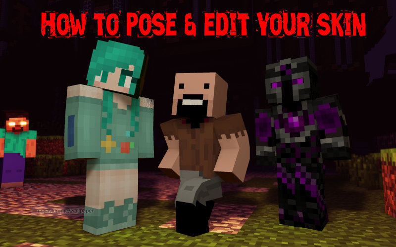 How to pose and edit your minecraft skin minecraft blog - Minecraft wallpaper creator online ...