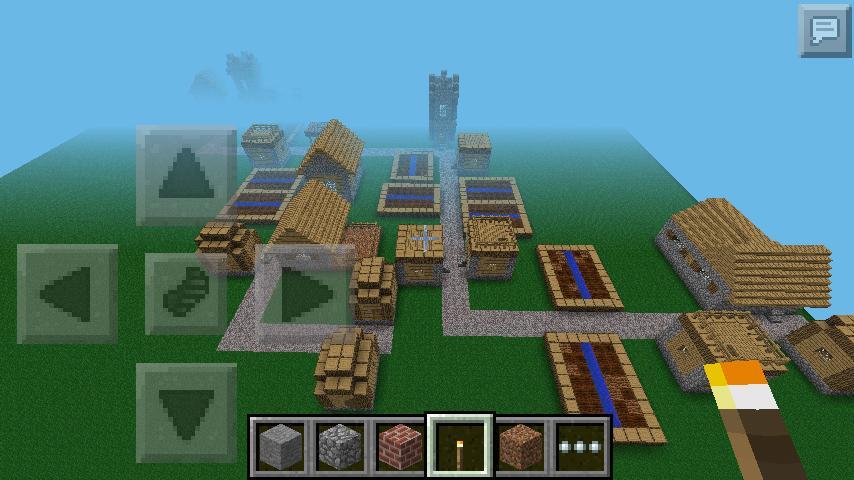 minecraft pe superflat with village minecraft project