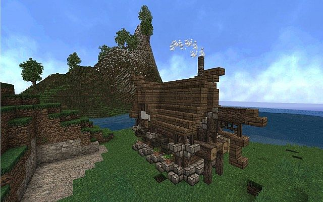 Fishing House Minecraft Project