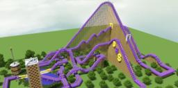 The Bucking Bronco - Amazing and HUGE Roller-Coaster!!! Minecraft