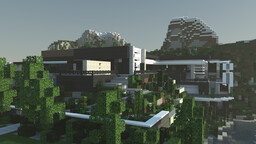 Modern cliffside house Minecraft Map & Project