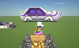 Purple and White Car Minecraft Map & Project