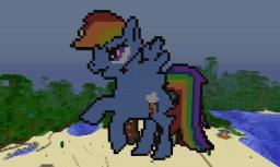 Rainbow Dash Minecraft Map & Project