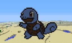 Squirtle Pixel Art Minecraft Map & Project