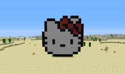 Hello Kitty Pixel Art Minecraft Map & Project