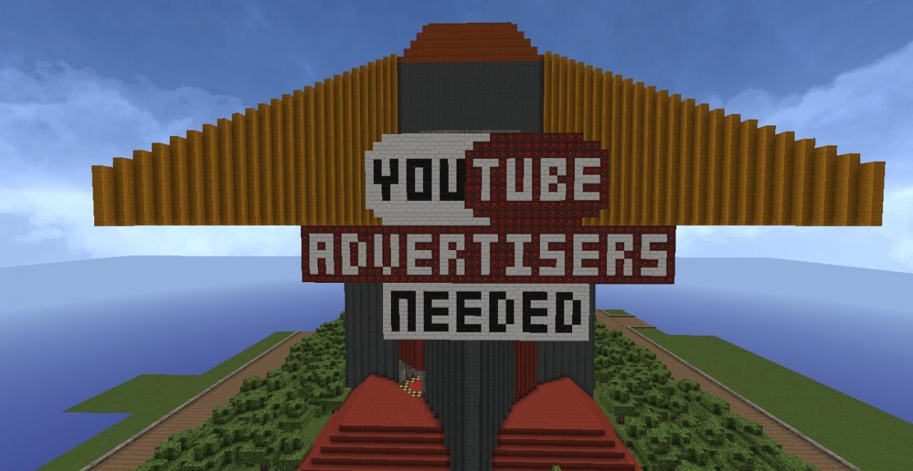 Youtube La Youtube De Pixel Art Advertise Logo Minecraft Project