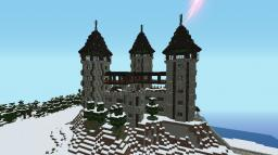 [1.6.2] Castle Towering over Village Minecraft Map & Project