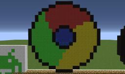 Google Chrome Logo Pixel Art Minecraft Map & Project