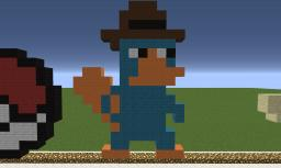 Perry The Platypus Pixel Art Minecraft Map & Project
