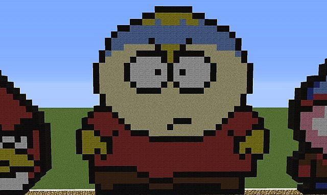 Pixel Art Cartman South Park Minecraft Map
