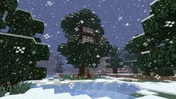 Snowy Tree House Minecraft Map & Project