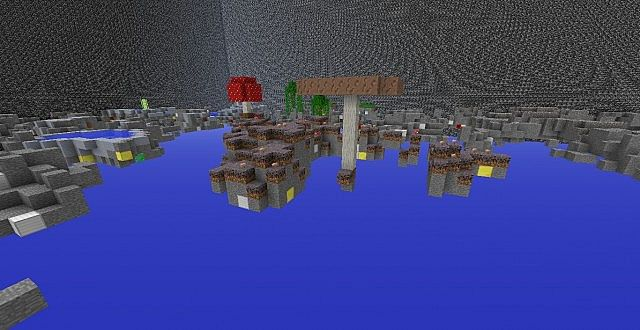 Mushrooms, cant be a minecraft map without them.