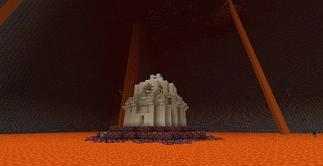 Nether Temple! cool... but there is lava!