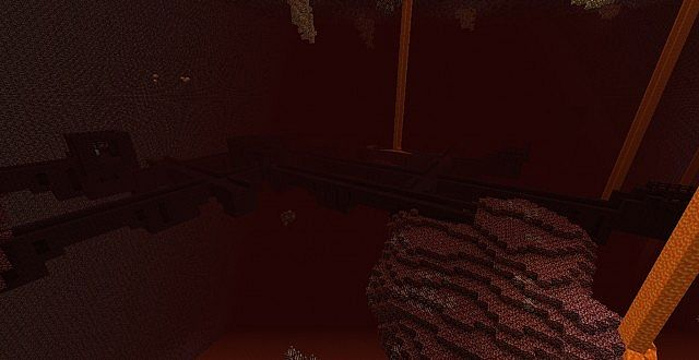 Nether fortress..... do i see something blue