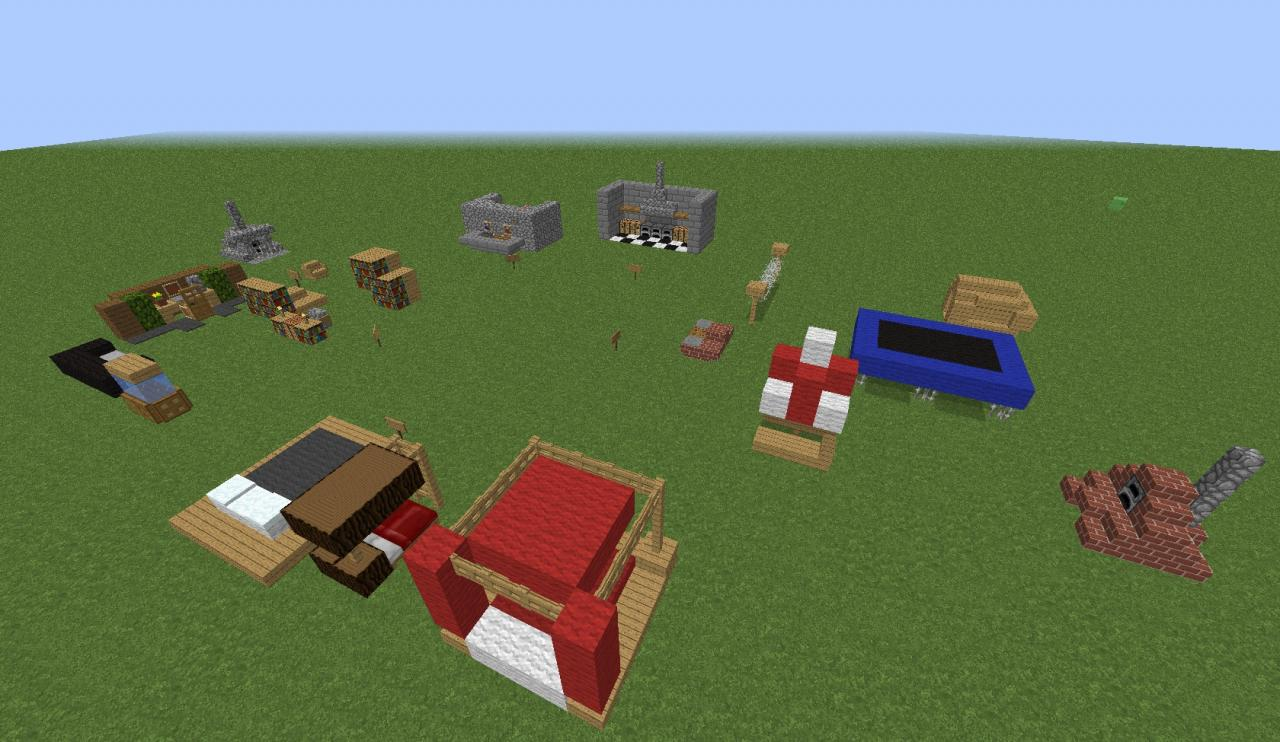 Minecraft 20 Furniture Designs   Minecraft Project