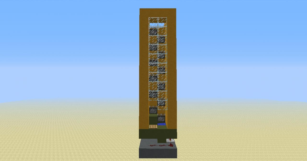 Compact Elevator Mcedit Schematic Minecraft Project
