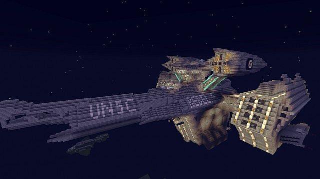 космические корабли карта в майнкрафт #4