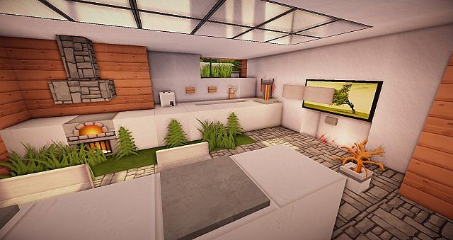 kitchen design rules ample modern eco house minecraft project 1336