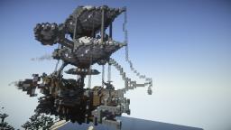 Minecraft Build - Steampunk Airship Minecraft Project