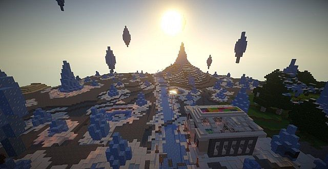 An overview of the land of CrystalCraft!