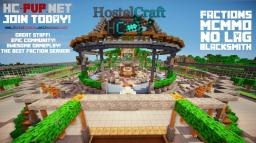 HostelCraft, Faction, Hardcore PvP, mcmmo & more Minecraft Server